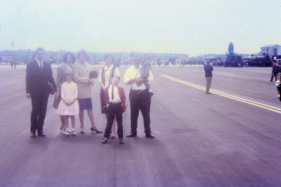 photo: My family and others at Frankfurt American Airport